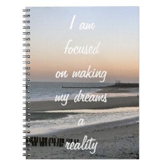 Motivación positiva de la afirmación sobre sueños libretas espirales