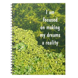 Motivación positiva de la afirmación sobre sueños notebook