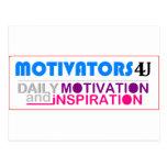 Motivación y inspiración diarias postal