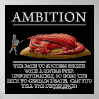 Motivador de la fantasía de la ambición (de) póster