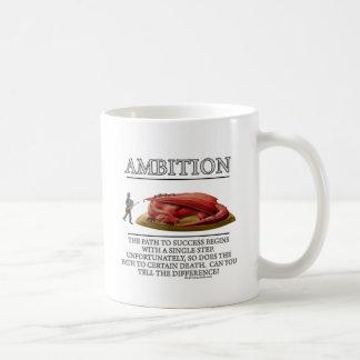 Motivador de la fantasía de la ambición de tazas de café
