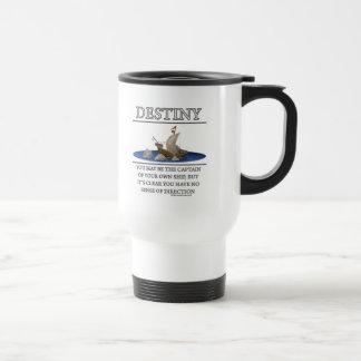 Motivador de la fantasía del destino de taza de café