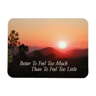 "Motivate Magnet, ""Better To Feel Too Much..."" Magnet"