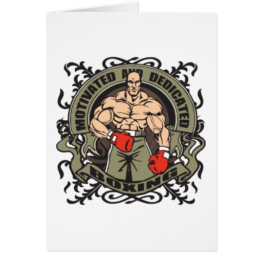 Motivated Boxing Greeting Cards