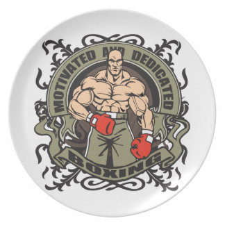 Motivated Boxing Dinner Plate