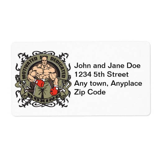 Motivated Boxing Personalized Shipping Label