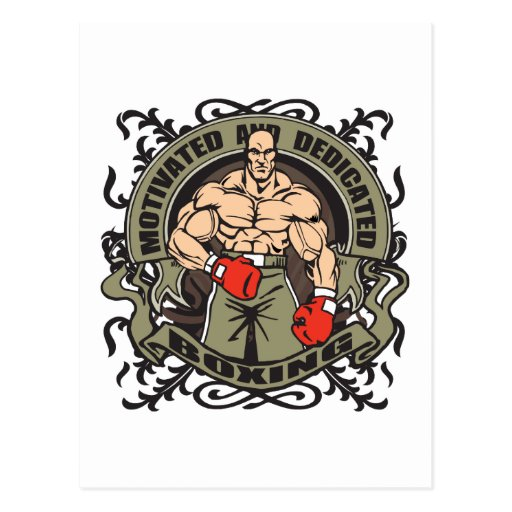 Motivated Boxing Post Card