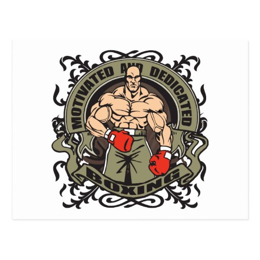 Motivated Boxing Postcard