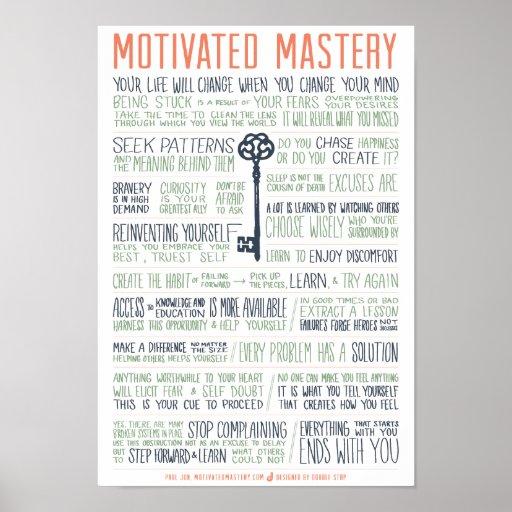 Motivated Mastery Manifesto (11x16 inches) Print