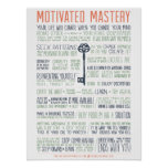Motivated Mastery Manifesto (18x24 inches) Poster