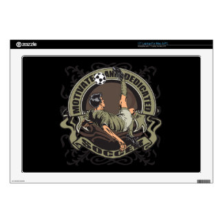 Motivated Soccer Laptop Decal