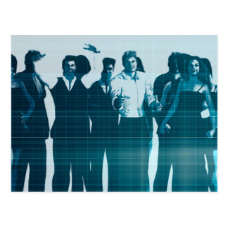 Motivated Workforce and Staff Employees Smiling Postcard