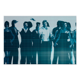 Motivated Workforce and Staff Employees Smiling Poster