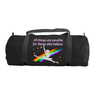 MOTIVATING ALL THINGS ARE POSSIBLE DANCER DESIGN GYM DUFFLE BAG