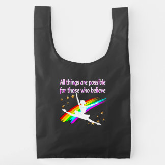 MOTIVATING ALL THINGS ARE POSSIBLE DANCER DESIGN REUSABLE BAG