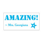 "[ Thumbnail: Motivating ""Amazing!"" Educator Rubber Stamp ]"
