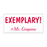 "[ Thumbnail: Motivating ""Exemplary!"" Commendation Rubber Stamp ]"