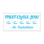 "[ Thumbnail: Motivating ""First-Class Job!"" Tutor Rubber Stamp ]"