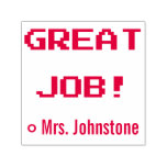 "[ Thumbnail: Motivating ""Great Job!"" + Tutor Name Rubber Stamp ]"