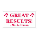 "[ Thumbnail: Motivating ""Great Results!"" Tutor Rubber Stamp ]"