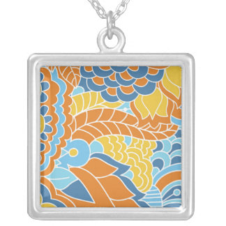 Motivating Plucky Tranquil Imaginative Square Pendant Necklace