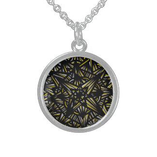 Motivating Romantic Gregarious Exuberant Round Pendant Necklace