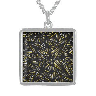 Motivating Romantic Gregarious Exuberant Square Pendant Necklace