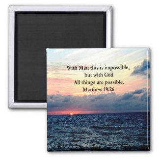 MOTIVATING SUNRISE MATTHEW 19:26 PHOTO DESIGN MAGNET