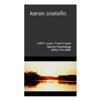 Motivatioal Speaker and Life Coach Golden Sunset Business Cards