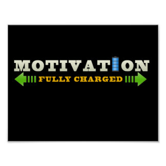 Motivation Battery Poster
