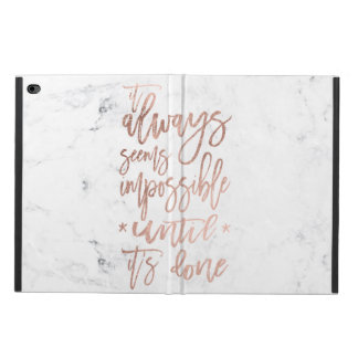 Motivation chic rose gold typography white marble powis iPad air 2 case