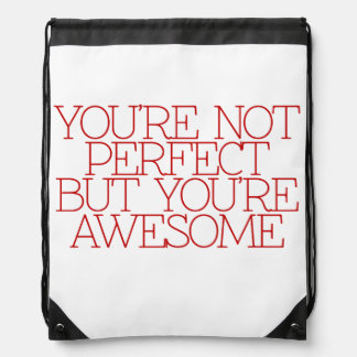 Motivation, inspiration, words of wisdom. quotes drawstring bag