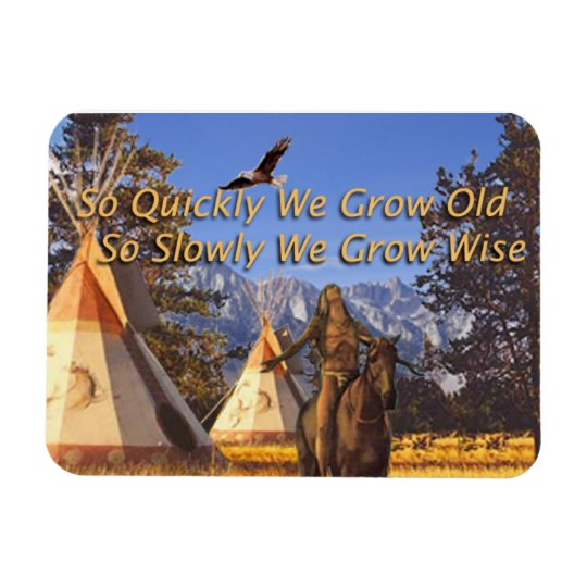 Motivation Magnet, Native American Theme Rectangular Photo Magnet