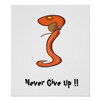 Motivation Poster: Never Give Up !! Poster