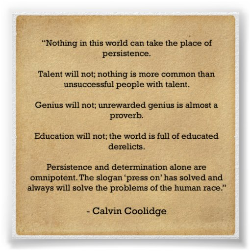 Persistence Motivational Quotes Teamwork: Motivation Poster - PErsistance