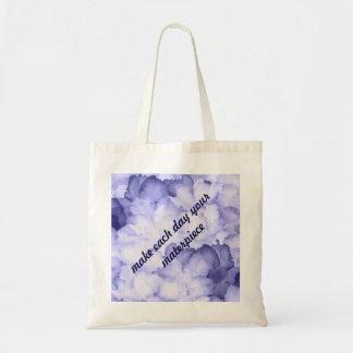 Motivation pretty purple handbag tote reusable budget tote bag