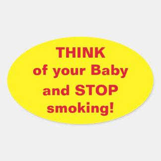 Motivation Stop Smoking Sticker for Pregnant Women