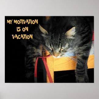Motivation vacation poster