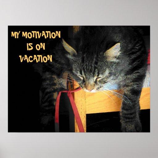motivation vacation poster zazzle. Black Bedroom Furniture Sets. Home Design Ideas