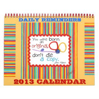 Motivational 2013 calendar