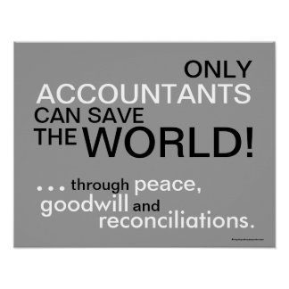 Motivational Accountant Slogan Poster