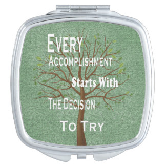 Motivational achievement and accomplishment makeup mirror