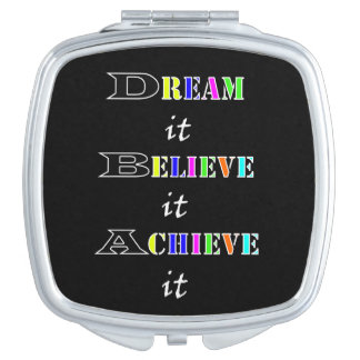 Motivational achievement and Dreams Quotes Vanity Mirror