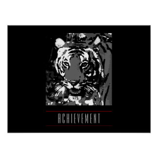 Motivational Achievement Tiger Poster Print