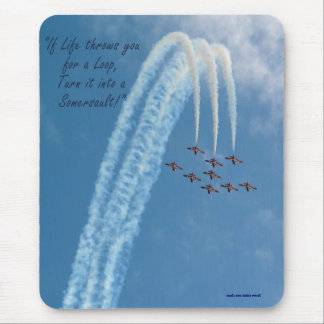 Motivational Aerobatic Subsonic Turbo-Jets Mouse Pad