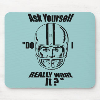 Motivational American Football Sport Gifts Mouse Pad