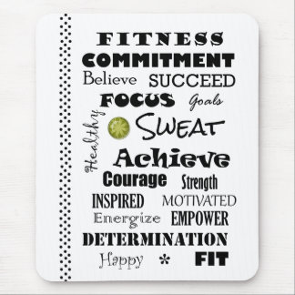 Motivational and Inspirational Fitness Typography Mousepad