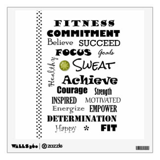 Motivational and Inspirational Fitness Typography Room Graphic
