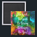 """Motivational and Inspirational Words Magnet 2""""<br><div class=""""desc"""">A fun, colorful and whimsical hand-drawn and painted abstract design with words. This colorful magnet is a perfect gift for special person in your life or for yourself. I hope it makes you happy . . . that is my goal and passion! ⭐You can be creative and customize all my...</div>"""