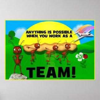 Motivational Ants Teamwork Poster